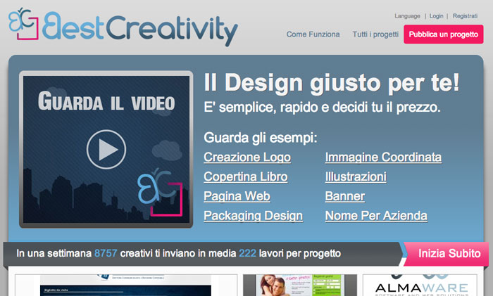 home page di BestCreativity.it