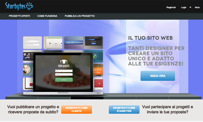 home page di Starbytes.it