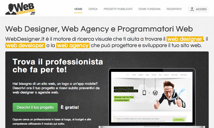 home page di WebDesigner.it