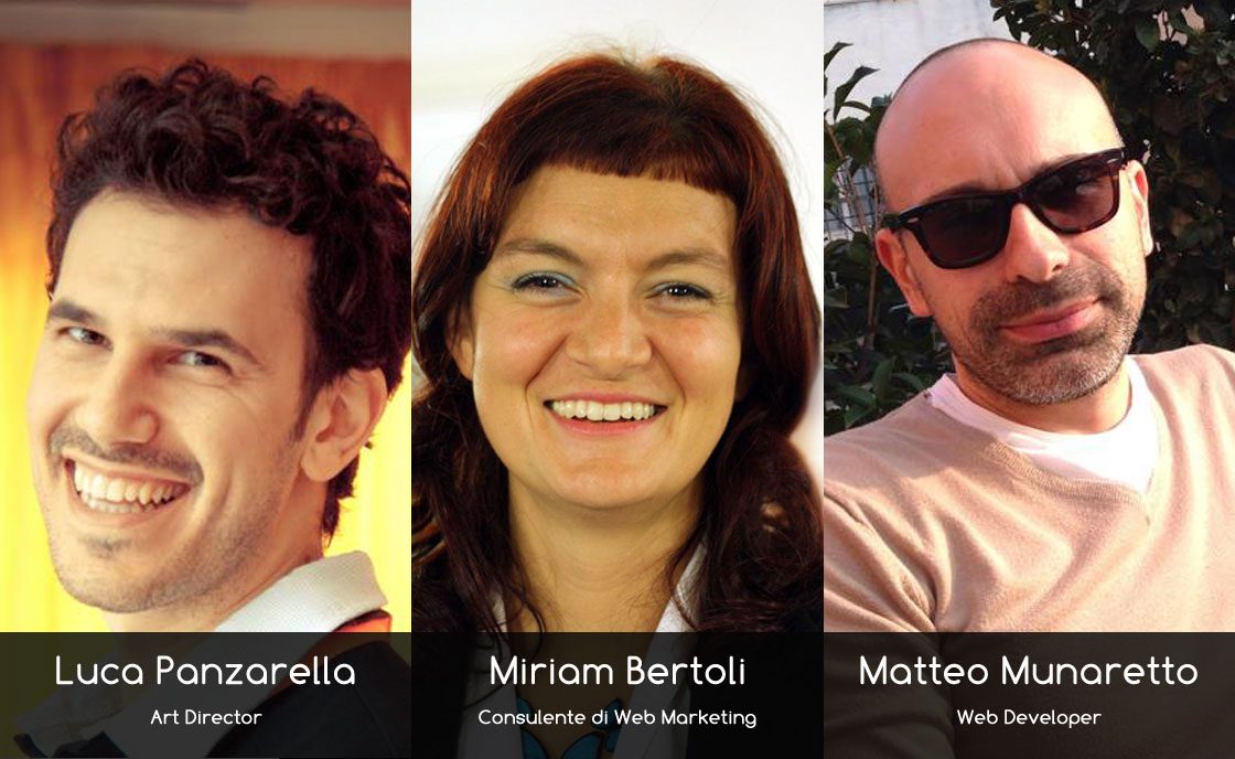 Miriam Bertoli, Luca Panzarella e Matteo Munaretto