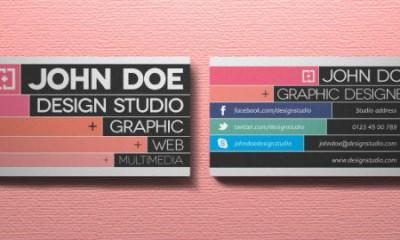 esempio di un biglietto da visita per web designer