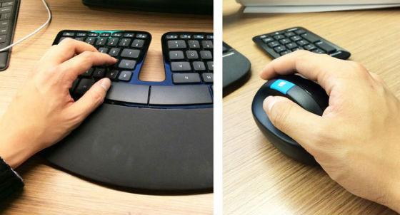 tastiera ergonomica della microsoft